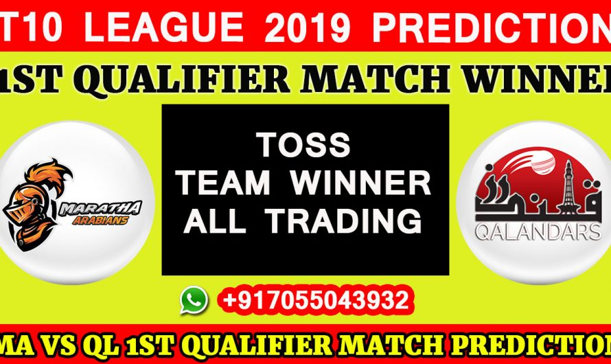 1ST Qualifier T10 2019, Maratha Arabians vs Qalandars, Match Prediction & TIPS, MA VS QL