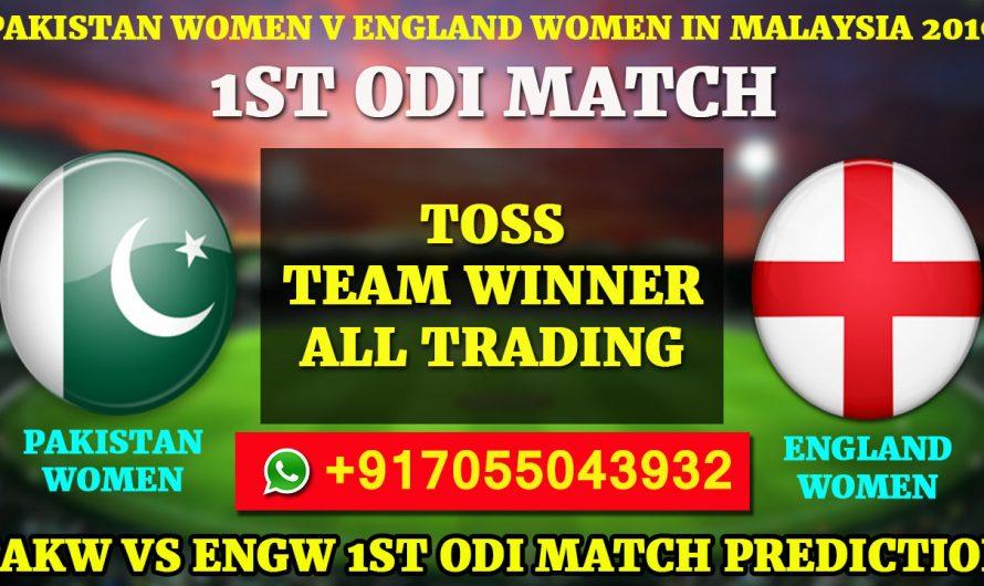 1ST ODI Match, Pakistan Women v England Women in Malaysia, 2019:PakistanvsEngland, Match Prediction & Tips
