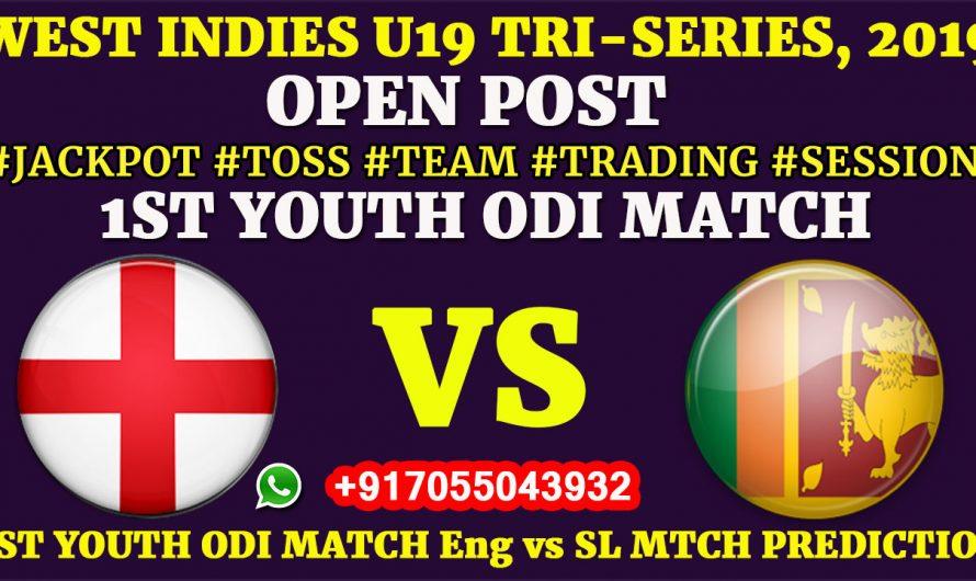 1ST YOUTH ODI MATCH,England U19 vs Sri Lanka U19,Full Fixing Reports, Prediction & Tips, ENG U19 VS SL U19
