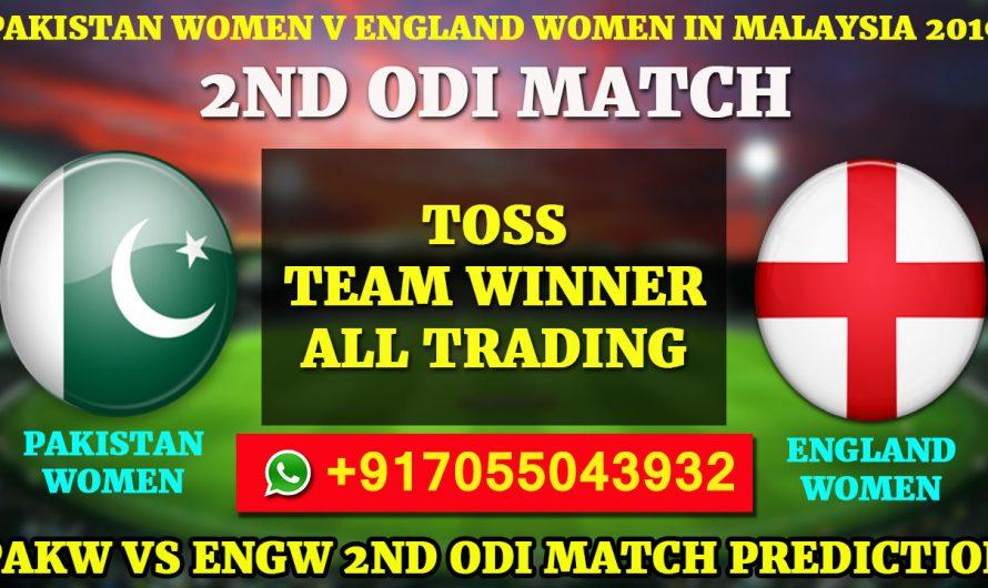 2ND ODI Match, Pakistan Women v England Women in Malaysia, 2019:PakistanvsEngland, Match Prediction & Tips, PAK VS ENG
