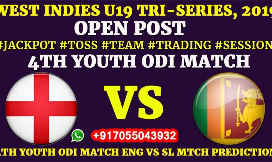 4TH YOUTH ODI MATCH, England U19 vs Sri Lanka U19,Full Prediction & Tips
