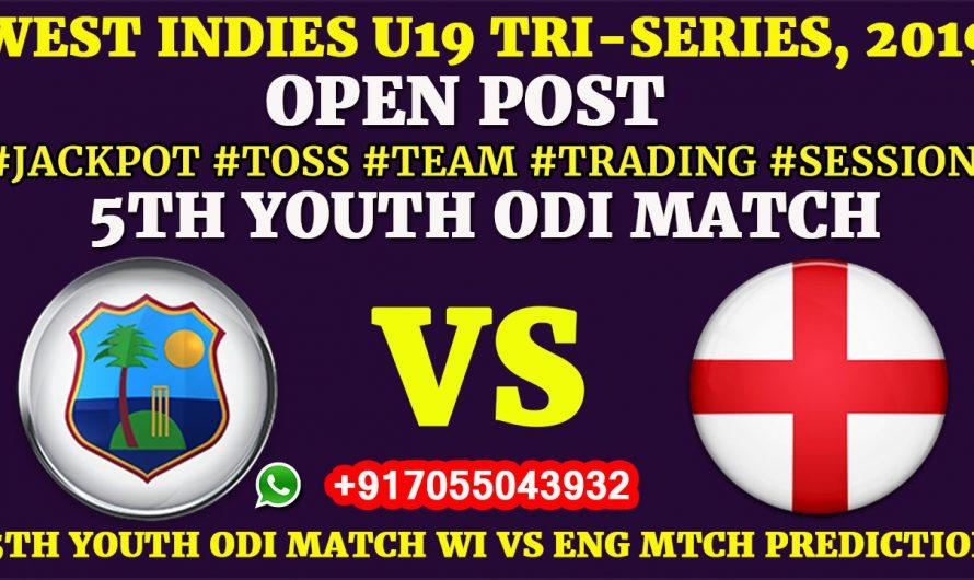 5TH YOUTH ODI MATCH, West Indies U19 vs England U19,Full Prediction & Tips