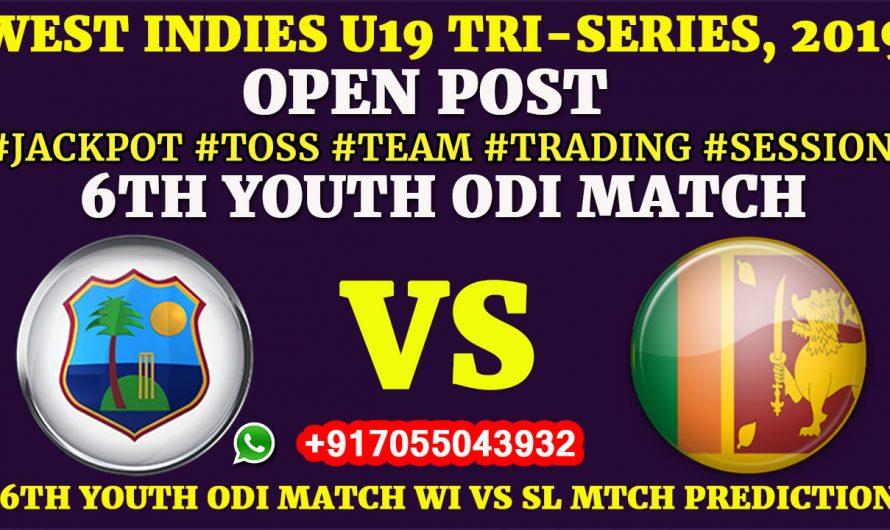 6TH YOUTH ODI MATCH, West Indies U19 vs Sri Lanka U19,Full Prediction & Tips