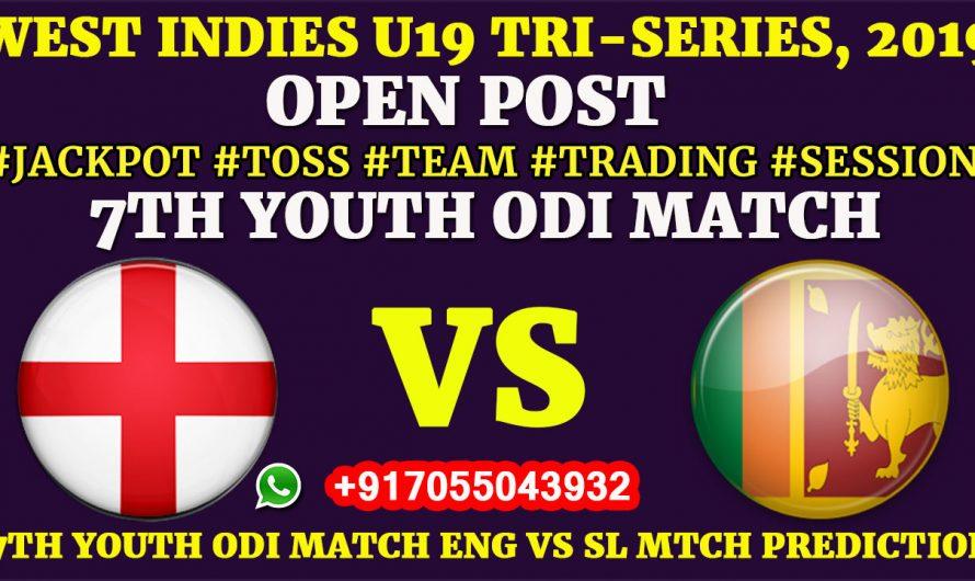 7TH YOUTH ODI MATCH, England U19 vs Sri Lanka U19,Full Prediction & Tips, ENG U19 VS SL U19