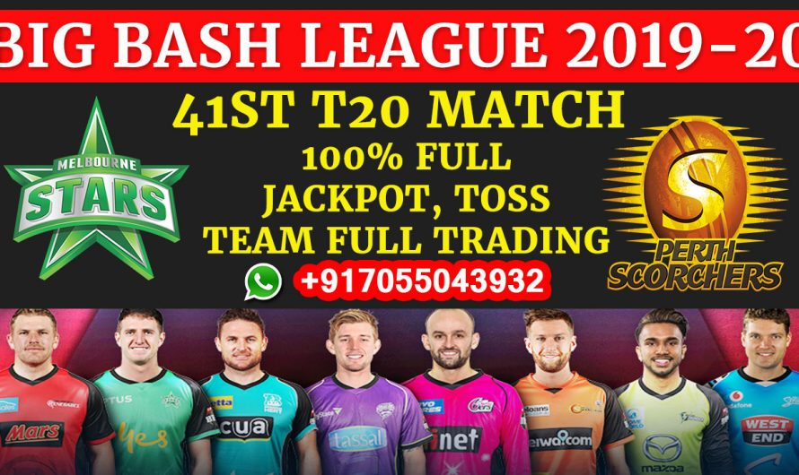 41ST T20 Match, BBL 2019-20: Melbourne Stars vs Perth Scorchers, Full Prediction & Tips