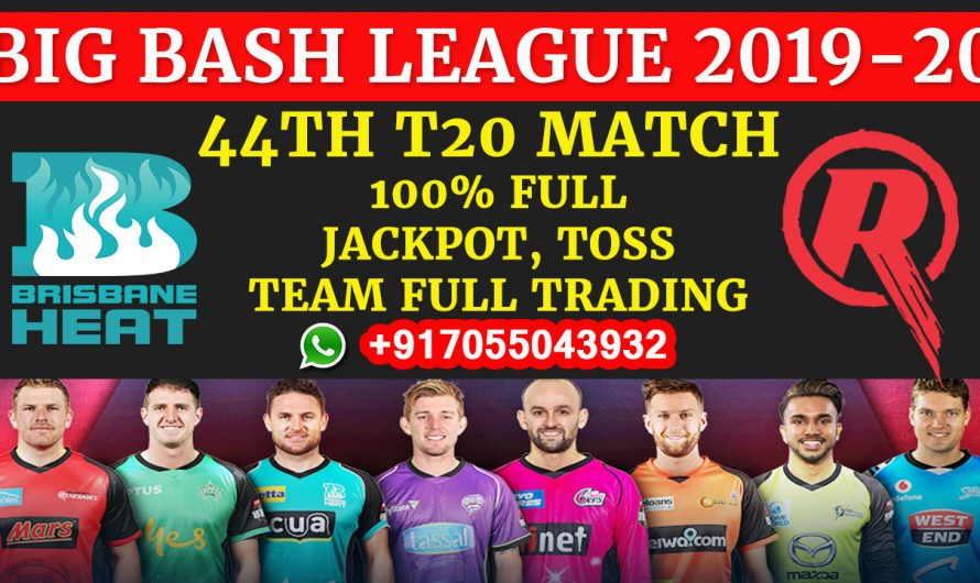 44TH T20 Match, BBL 2019-20: Brisbane Heat vs Melbourne Renegades, Full Prediction & Tips