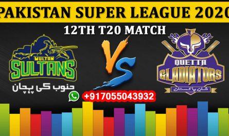 Multan Sultans vs Quetta Gladiators