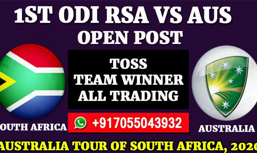 1st ODI Match, Australia tour of South Africa 2020: South Africa vs Australia, Full Prediction & Tips
