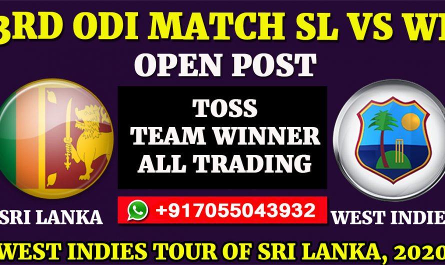 3RD ODI Match, West Indies tour of Sri Lanka 2020: Sri Lanka vs West Indies, Full Prediction & Tips