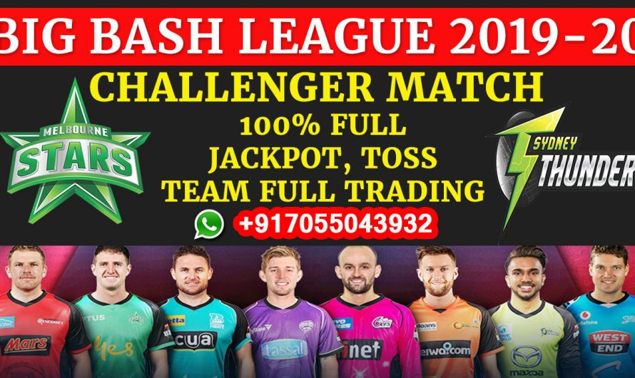 Challenger T20 Match, BBL 2019-20: Melbourne Stars vs Sydney Thunder, Full Prediction & Tips
