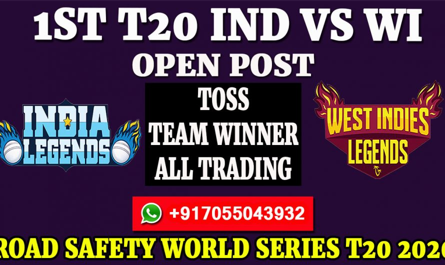 1ST T20  Match, Road Safety World Series T20 2020: India Legends vs West Indies Legends, Full Prediction