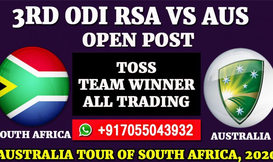 3rd ODI Match, Australia tour of South Africa 2020: South Africa vs Australia, Full Prediction & Tips