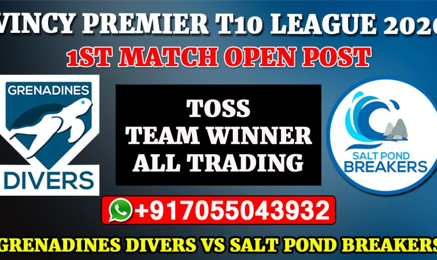 1st T10 Match, Vincy Premier T10 League 2020: Grenadines Divers vs Salt Pond Breakers, Full Prediction & Tips