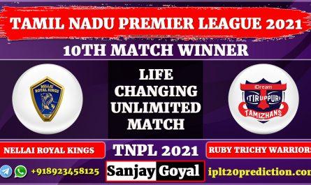 10th match Nellai Royal Kings vs IDream Tiruppur Tamizhans