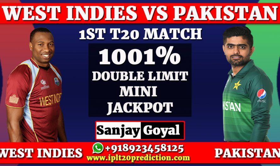 1st T20I Match Prediction West Indies vs Pakistan, WI vs PAK Dream11 Prediction