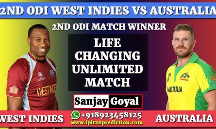 2ND ODI MATCH West Indies vs Australia
