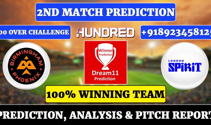 The Hundred Men's 2021, 2nd Match Prediction Birmingham Phoenix vs London Spirit, BRM vs LDN Dream11 Prediction