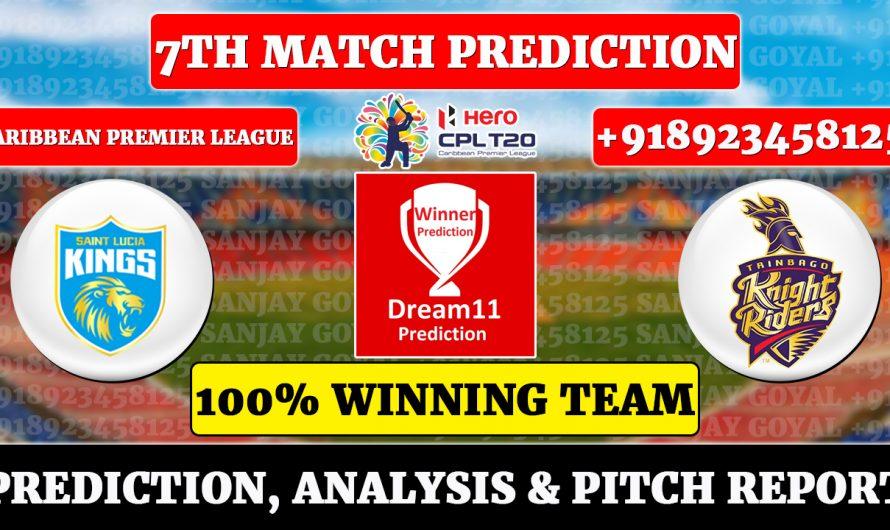 7th Match CPL 2021, Saint Lucia Kings vs Trinbago Knight Riders, Match Prediction, SLK VS TKR Dream11 Prediction